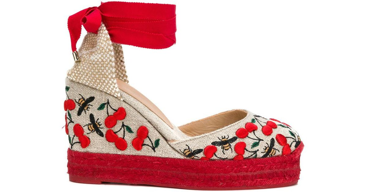 Castaner Embroidered Canvas Carina Espadrilles in . iSJxSU9j58