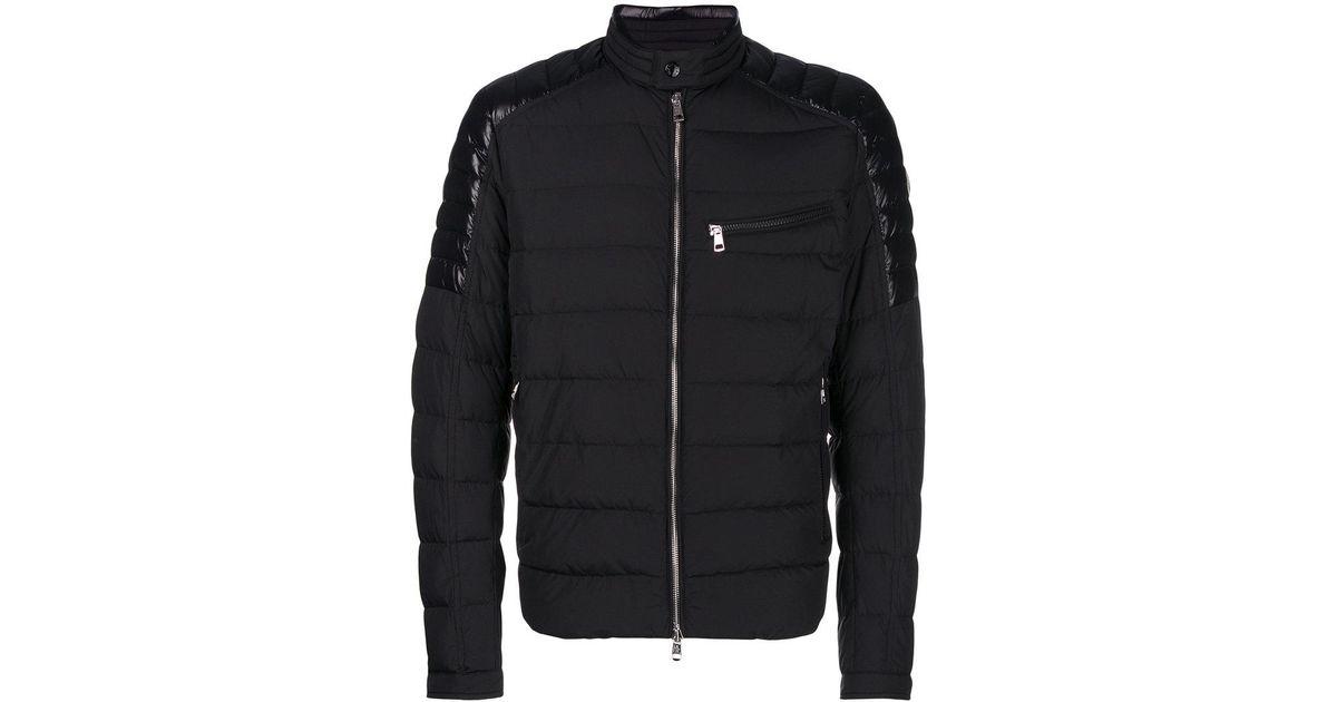 ce8fd79c0 Lyst - Moncler Meylan Padded Biker Jacket in Black for Men