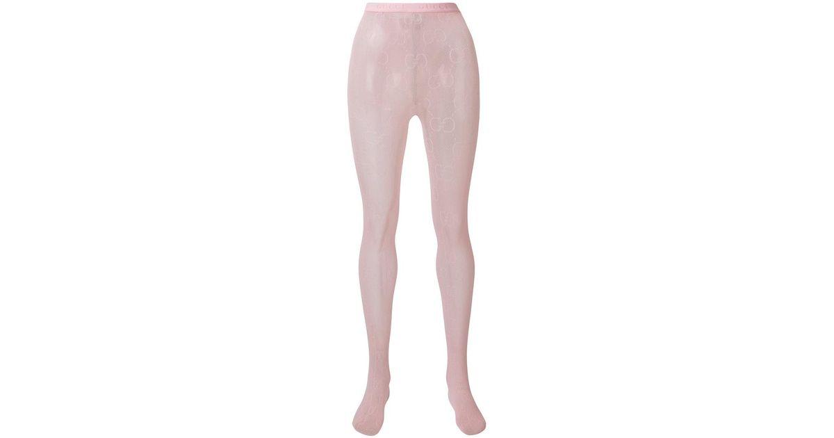 98895922e2358 Gucci Interlocking G Tights in Pink - Lyst