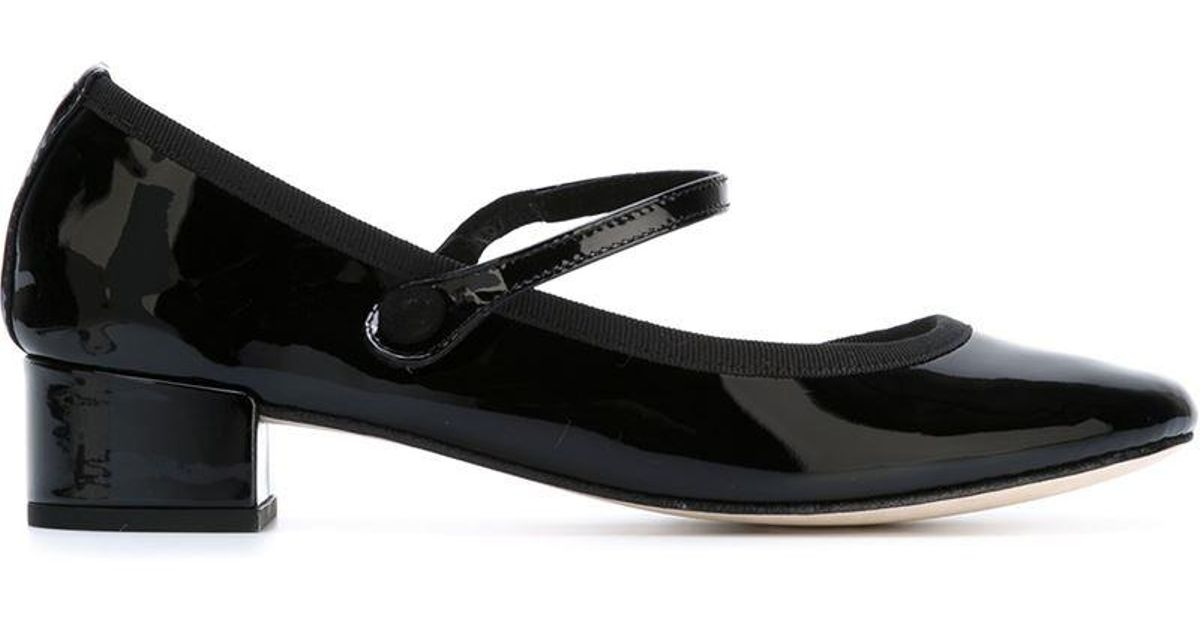 5649dd6a20 Repetto 'rose' Mary Jane Pumps in Black - Lyst