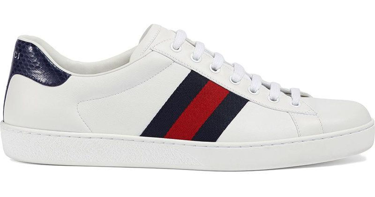 27db4f99469 Lyst - Gucci Ace Leather Low-top Sneaker in White for Men