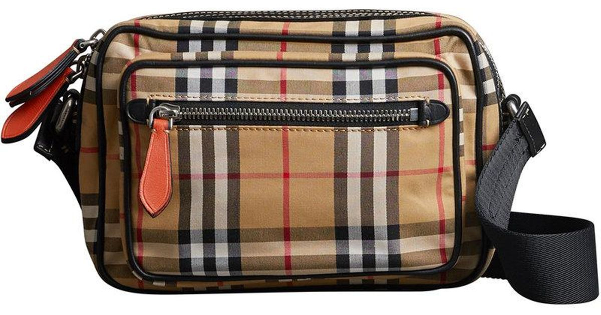 Burberry - Multicolor Vintage Check And Leather Crossbody Bag for Men - Lyst bfc6e6a2c18c6