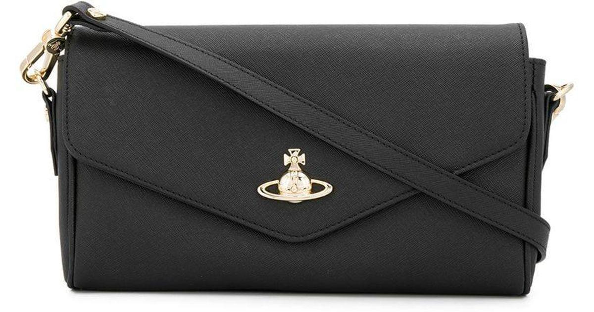 ee8631967153 Lyst - Vivienne Westwood Orb Shoulder Bag in Black