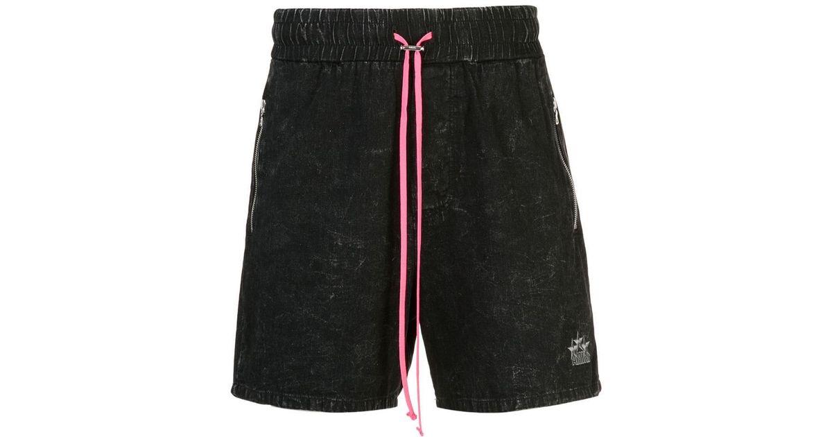 648f68a5a3 Amiri Acid Denim Tennis Shorts in Black for Men - Lyst