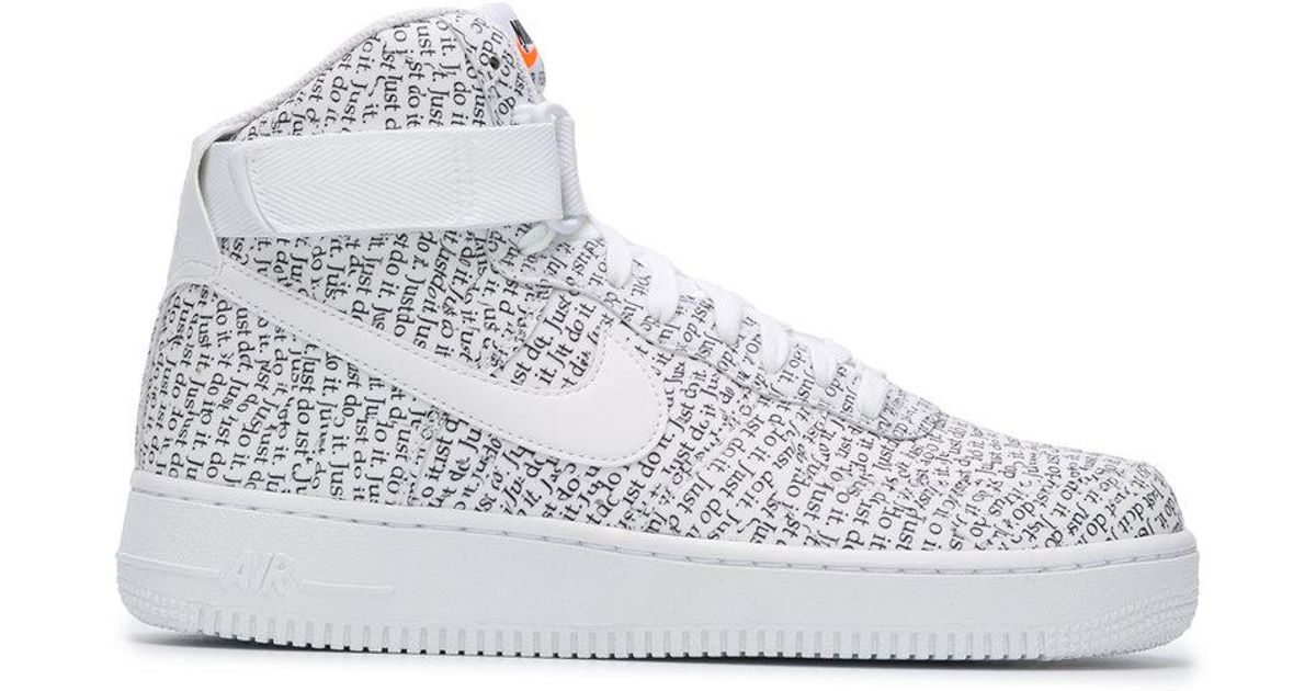 super popular 407cc beec4 Lyst - Nike Air Force 1 High Lx Sneakers in White for Men