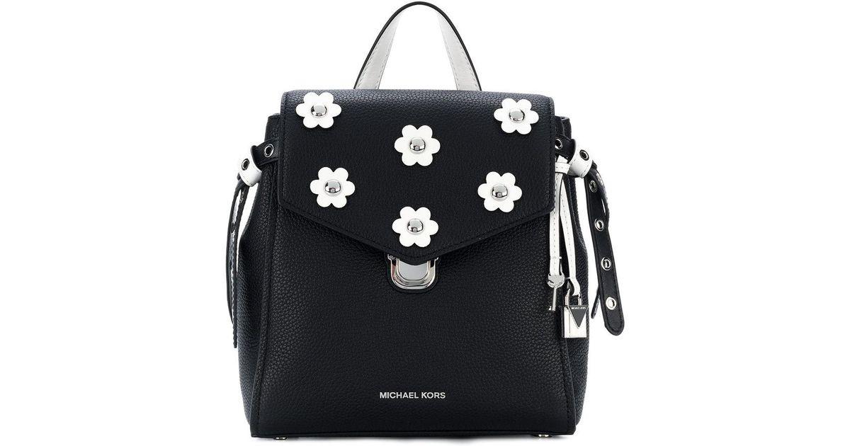 b68a0c634f20 MICHAEL Michael Kors Bristol Floral Appliqué Small Backpack in Black - Lyst