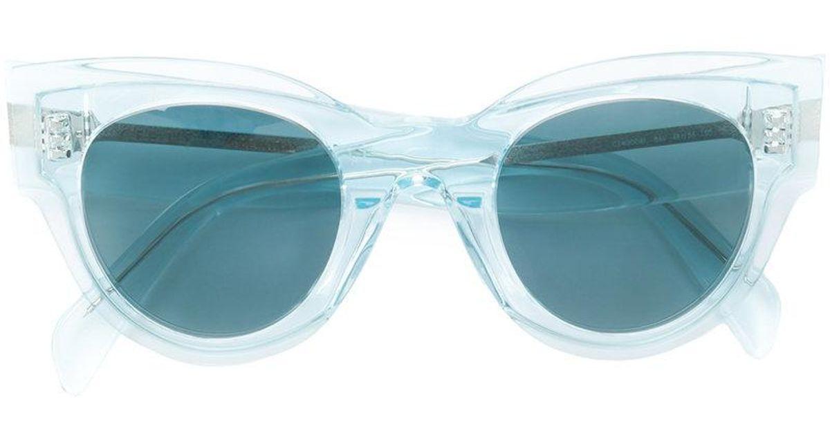Céline Cat Eye Sunglasses in Blue - Lyst 34a3ff3a1757