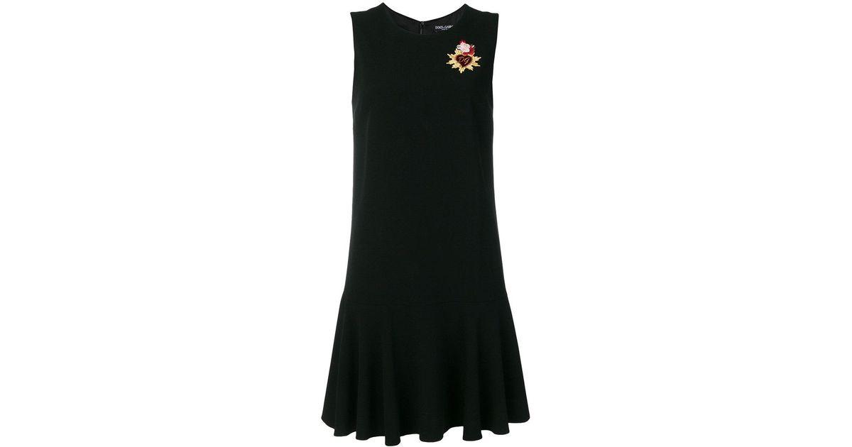 Lyst dolce gabbana sacred heart appliqué mini dress in black