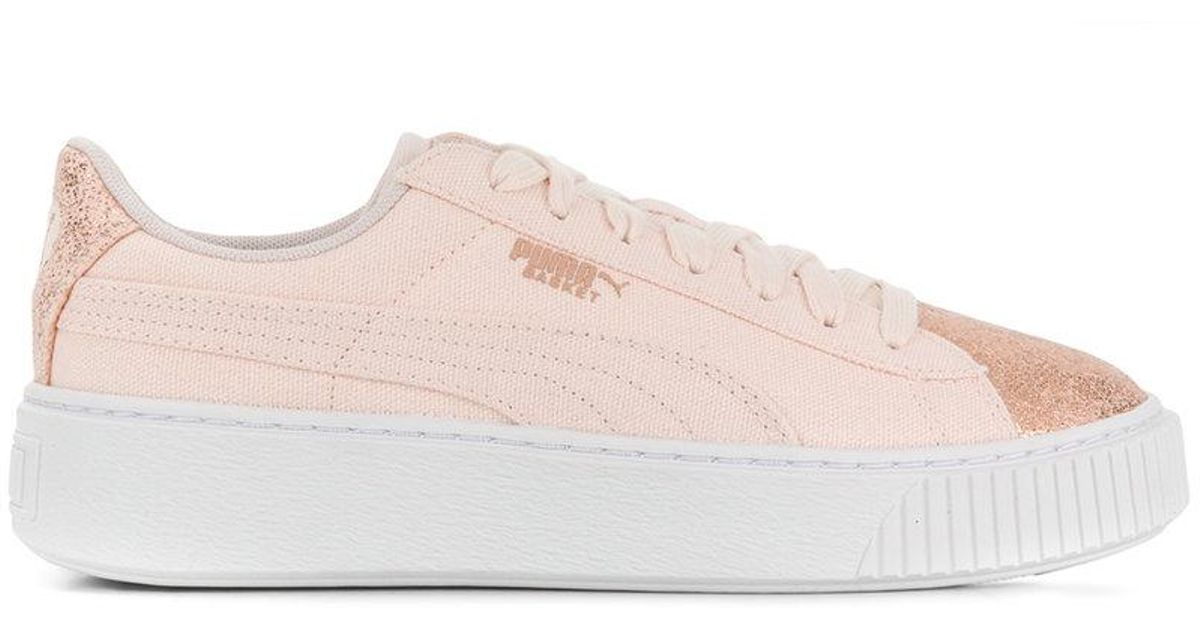 check-out c3621 a2679 PUMA - Pink Baskets à semelle plateforme - Lyst