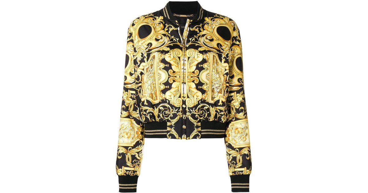 Lyst Versace Printed Bomber Jacket