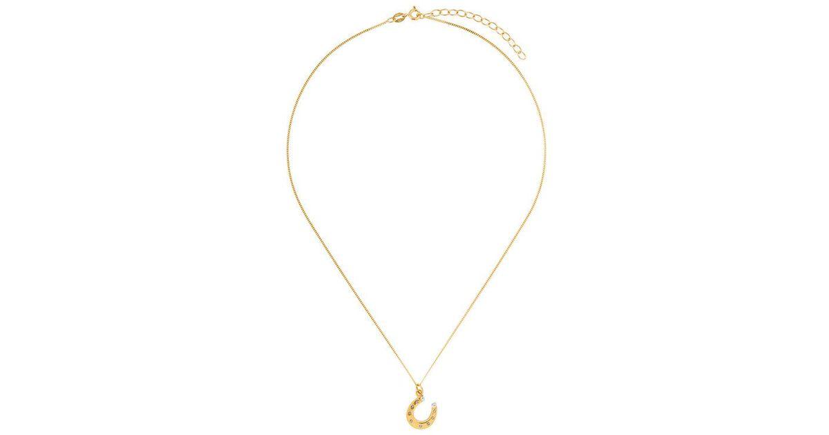 True Rocks mini horseshoe pendant necklace - Metallic Ex1nf