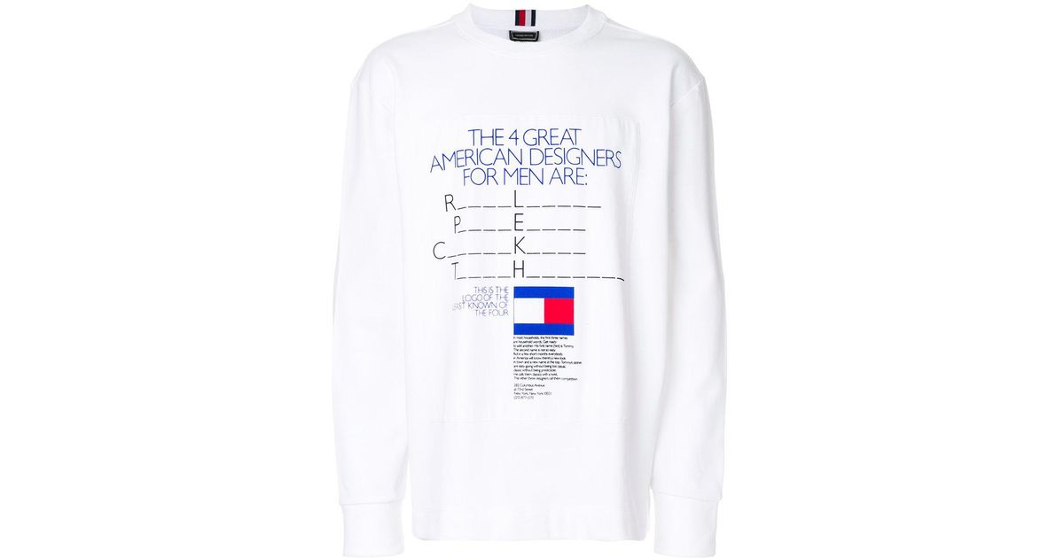 Tommy Hilfiger White Ad Campaign T shirt for men