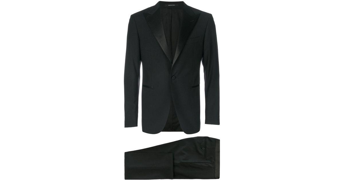 7d4d857ce92b Tagliatore 3 Piece Dinner Suit in Black for Men - Lyst