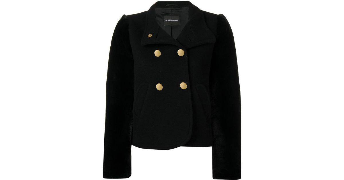 63848cbab6b7 Lyst - Emporio Armani Double Breasted Jacket in Black