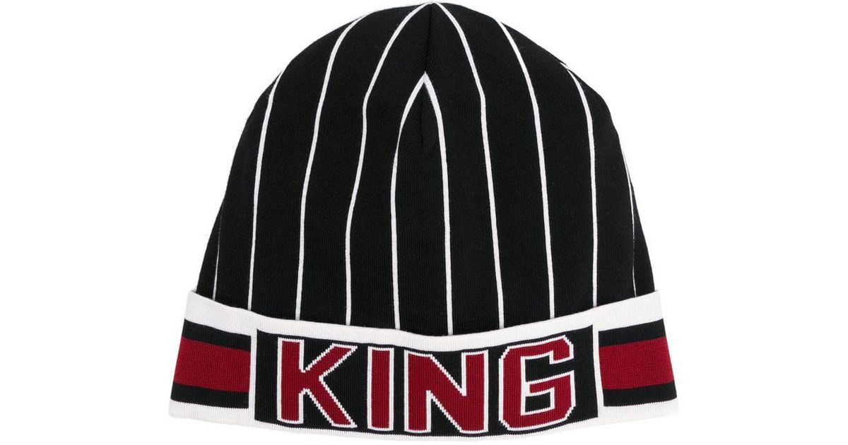 4373e359747 Lyst - Dolce   Gabbana Multicolor King Beanie By in Black for Men - Save 81%