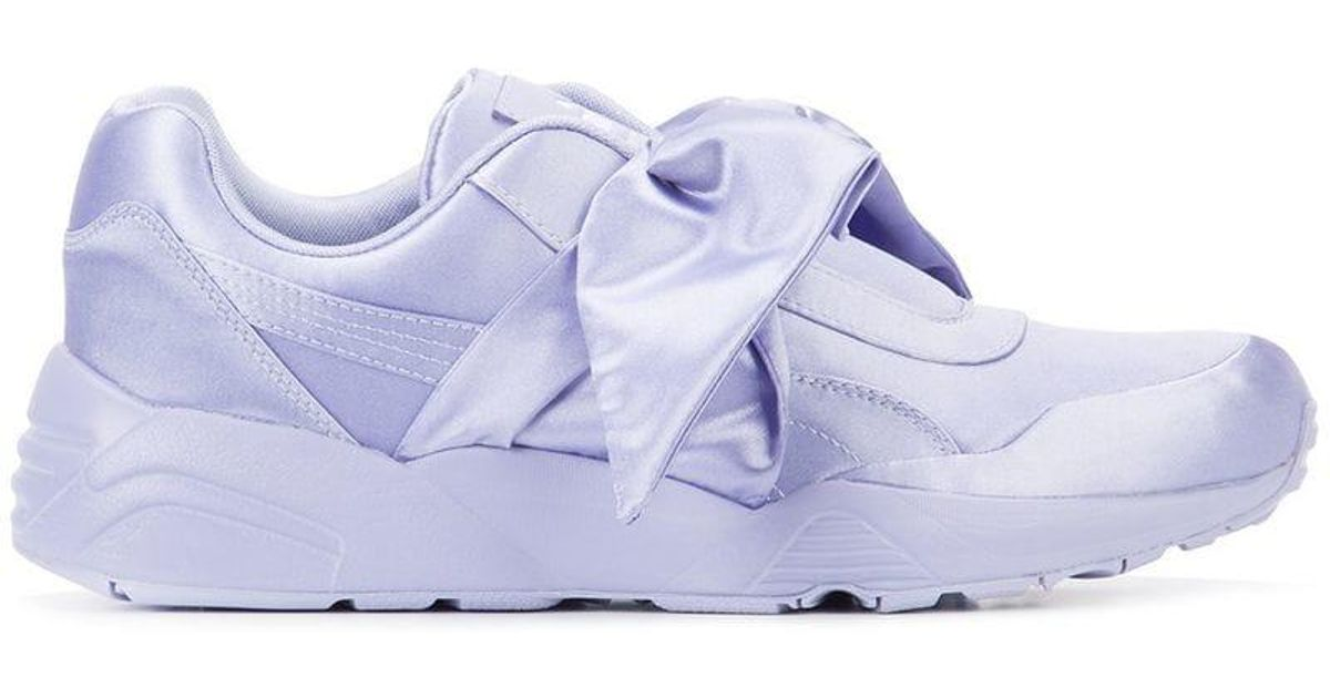 finest selection 17880 23bf4 PUMA - Pink Bow Sneakers - Lyst