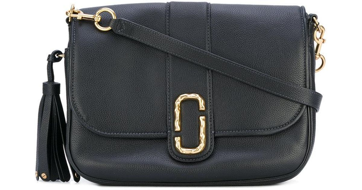 Lyst - Marc Jacobs Interlock Courier Bag in Black 5e6bae4d7ad28