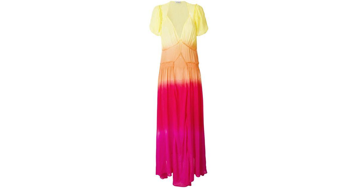 Multicolor Largo Attico Tie Vestido Dye S7R8RI