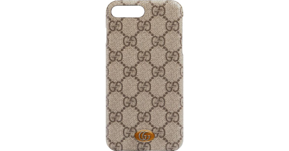 38722019fed6 Gucci Ophidia Iphone 8 Plus Case in Brown - Lyst