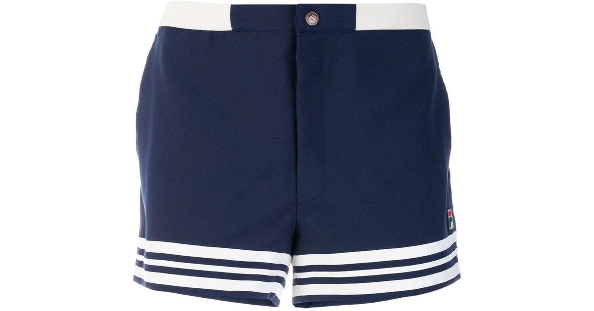 1943ae9419c7 Lyst - Fila Striped Hem Shorts in Blue for Men