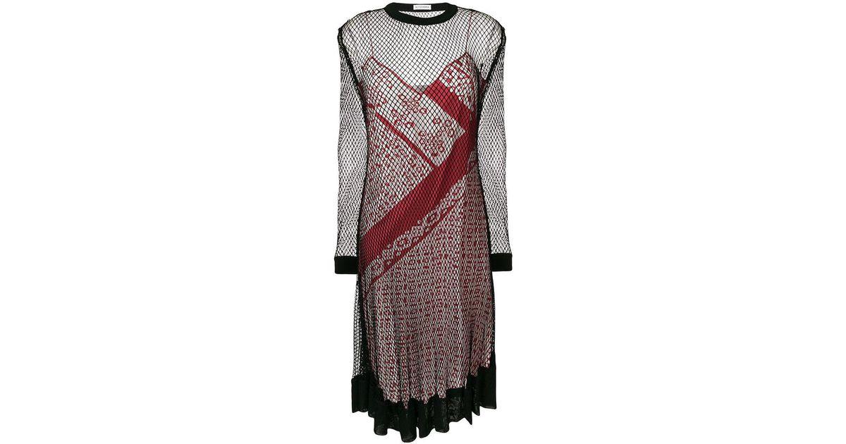 engineered animal stripe print cami dress with mesh overlayer - Multicolour Altuzarra Jq2J9AwwRY
