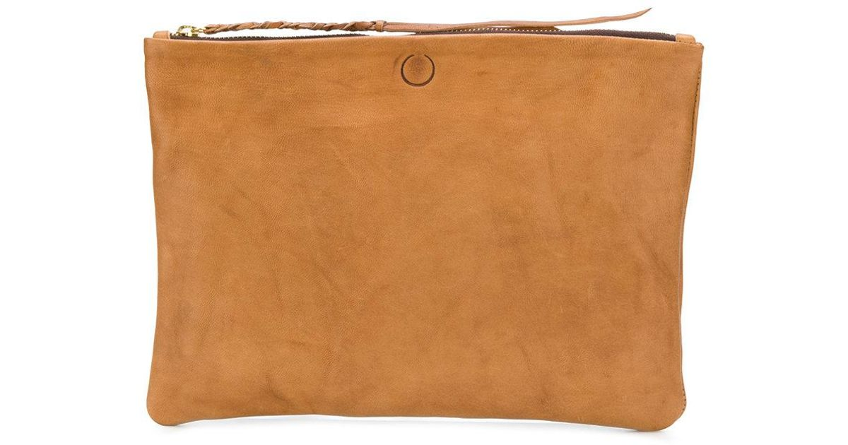 Chimalma clutch bag - Brown Caravana
