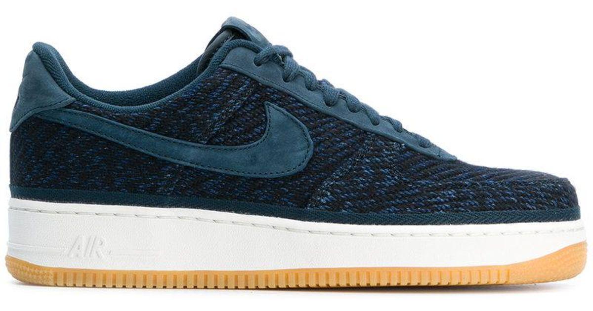 Nike Air Force 1 Chaussures De Sport De Lancement Durs - Bleu 4ocuy5