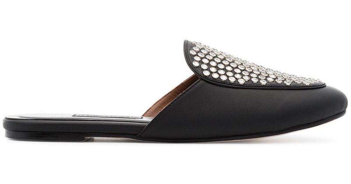 black Liza studded leather loafers Newbark 806vEgj