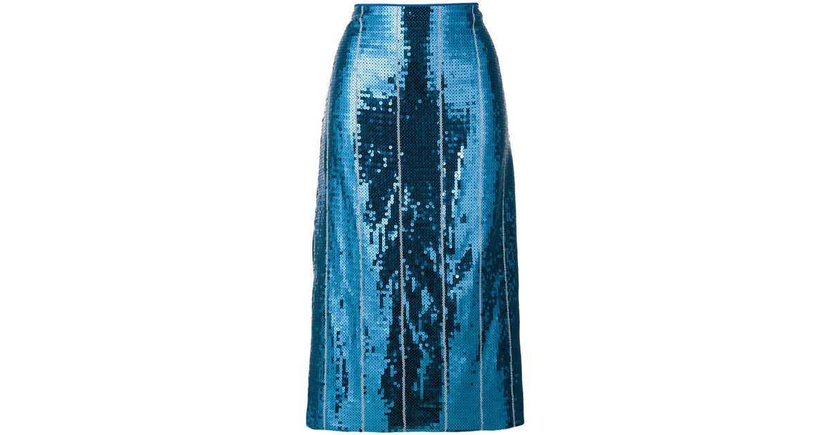 Limited New Shop Cheap Price sequin embellished skirt - Blue Victoria Beckham 07M3x