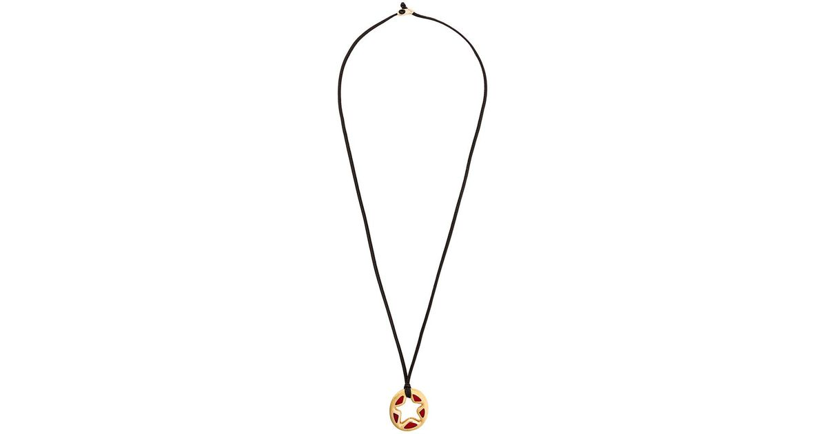 Lyst gavello 18kt rose gold star pendant necklace in metallic mozeypictures Choice Image