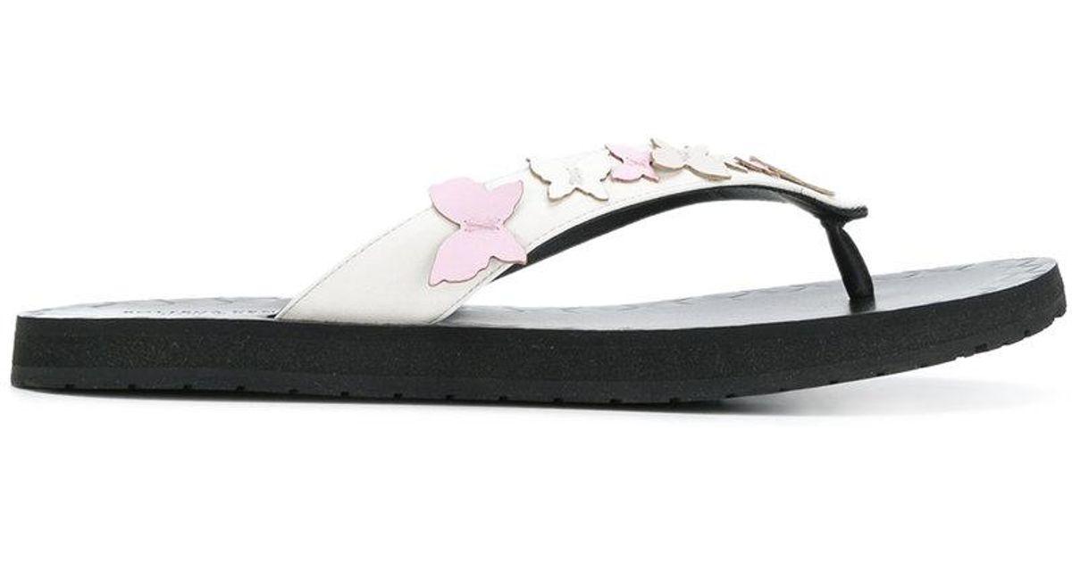 Intrecciato butterfly applique sandals - White Bottega Veneta Outlet Store Clearance Low Shipping Cheap Sale Fake Fq54li