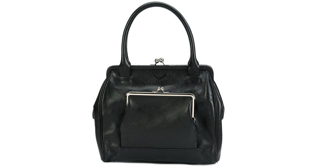 grande sélection emballage élégant et robuste dessin de mode Petit sac à main à fermoir porte-monnaie Y's Yohji Yamamoto en coloris Black