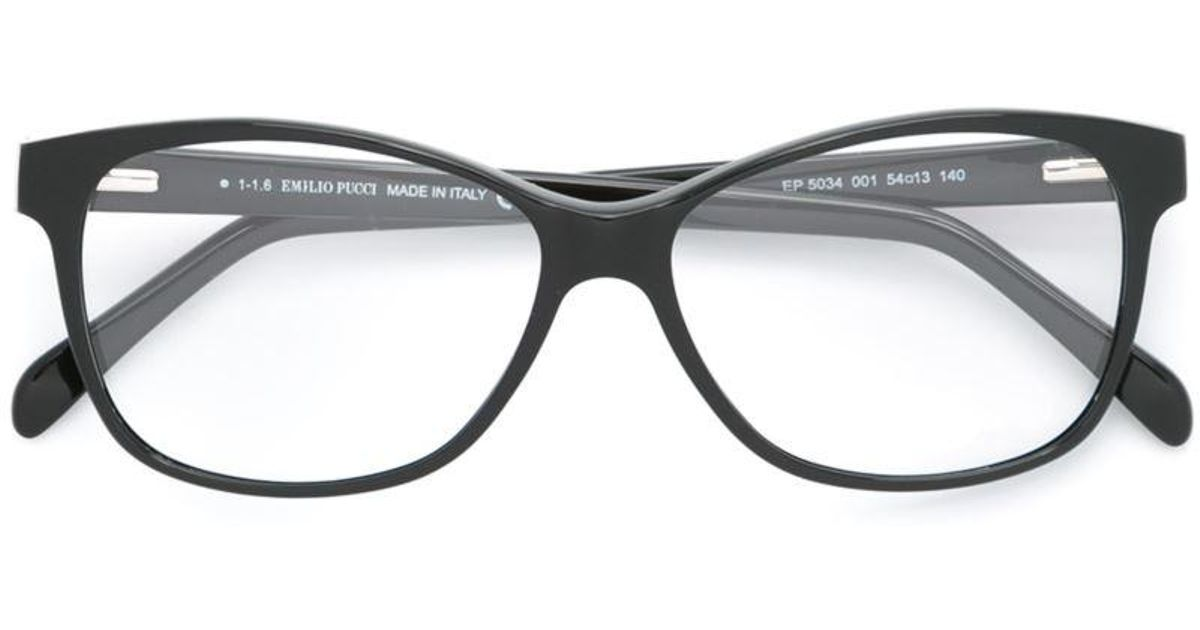 68c4092ee085 Emilio Pucci Printed Arm Glasses in Black - Lyst
