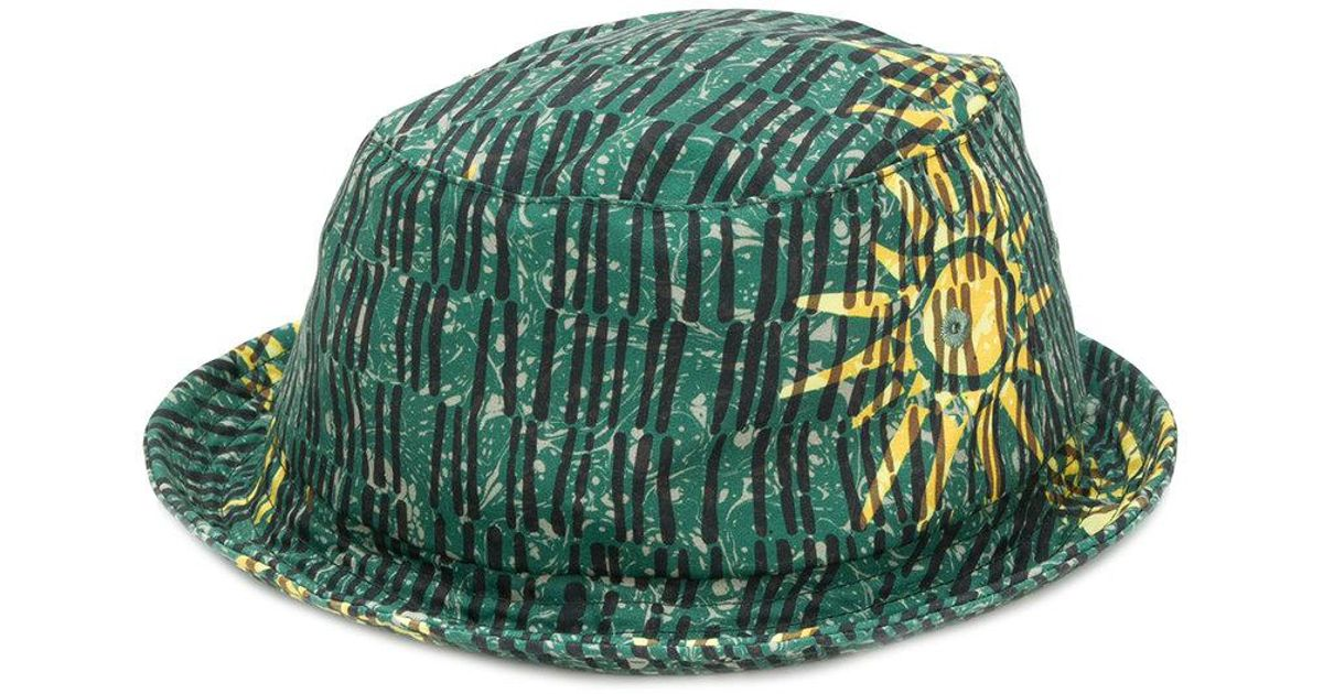 74c3cd1469e Universal Works Floral Bucket Hat in Green for Men - Lyst