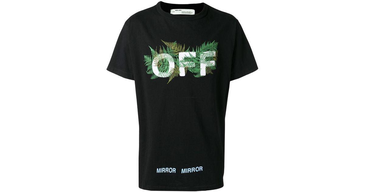 c4ff728da744 Lyst - Off-White c o Virgil Abloh Ferns Black T-Shirt in Black for Men
