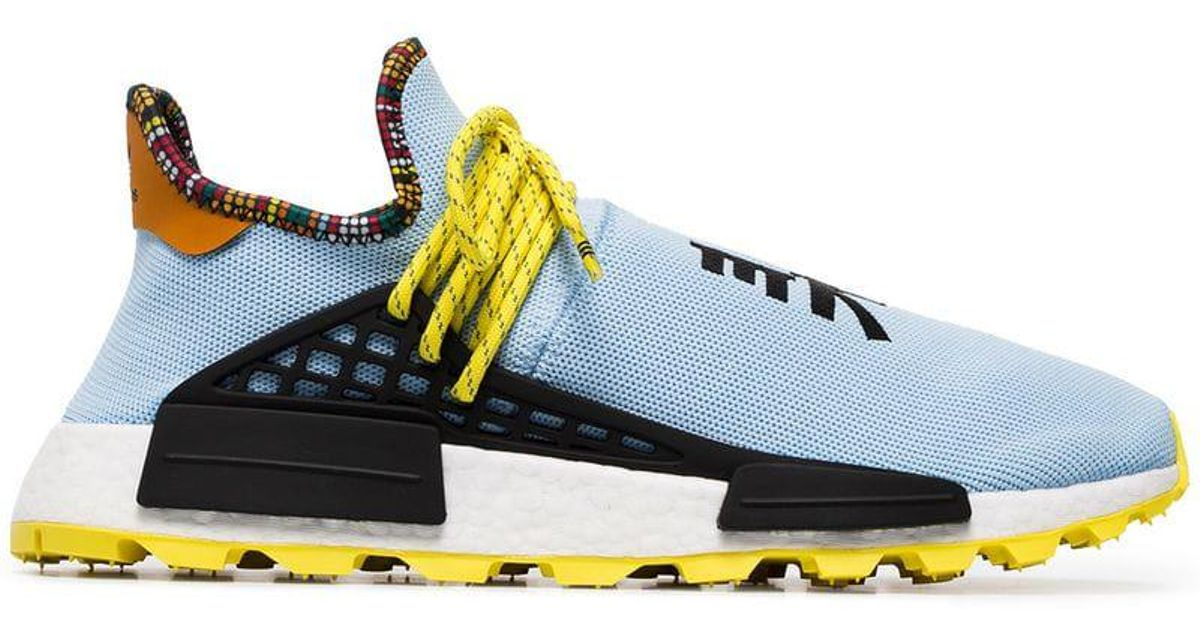 c2506cbc3 Lyst - adidas Originals X Pharrell Williams Multicoloured Human Body Nmd  Sneakers in Blue for Men