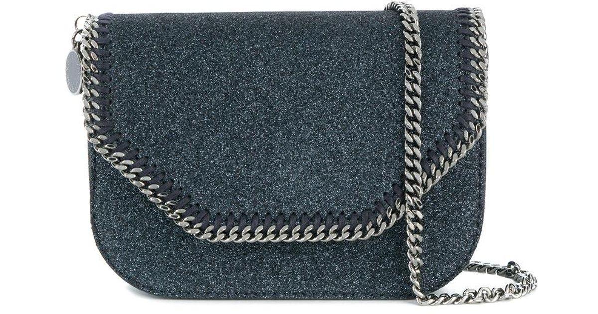 300eb5070b5 Lyst - Stella McCartney Falabella Box Glittered Shoulder Bag in Blue