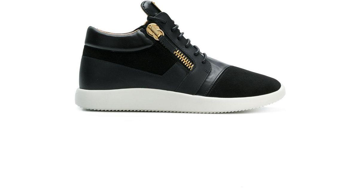 Coureur De Conception Zanotti Chaussures De Sport Lambrissés Giuseppe - Noir MPXEGT