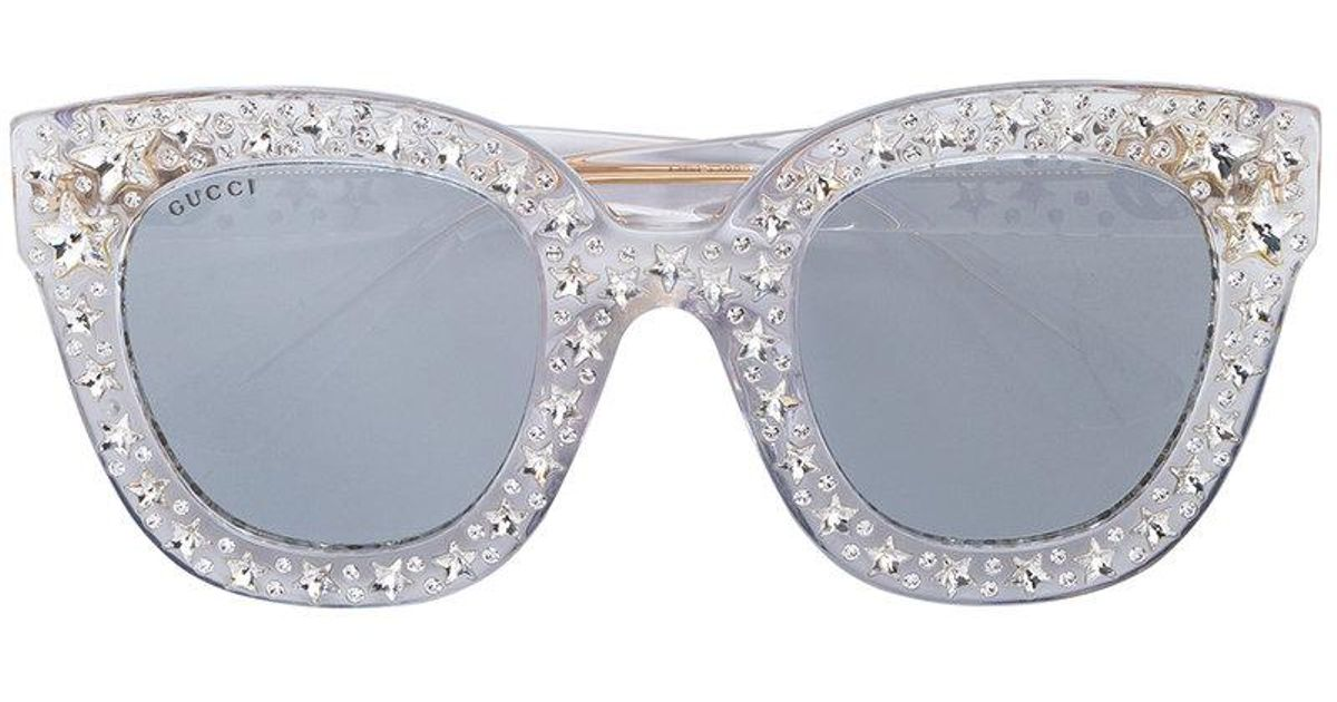 cat eye star sunglasses - Metallic Gucci 84TuZ