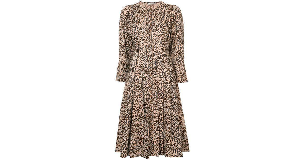 6880d2d254d7 Ulla Johnson - Brown Bernadette Cheetah Dress - Lyst