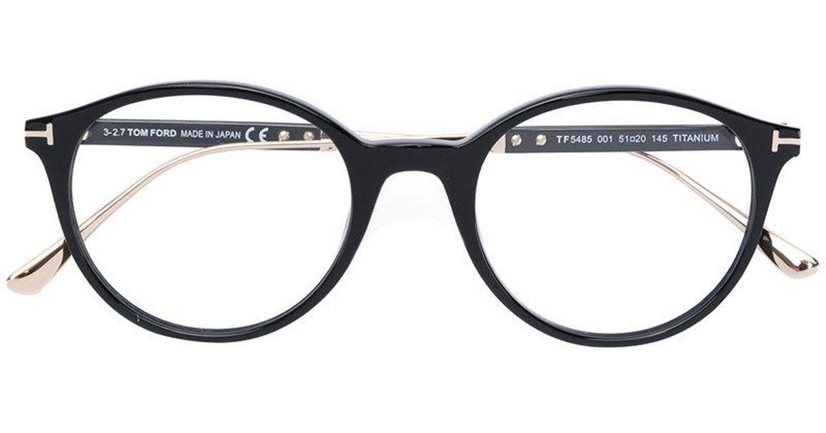 ea074da7a Tom Ford Round Frame Glasses in Black - Lyst