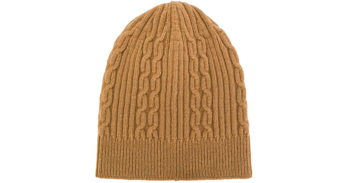 a72f506d2a4d0 ... cheap for discount e1648 dbdce Lyst - Universal Works Rib And Cable Knit  Beanie Hat in ...