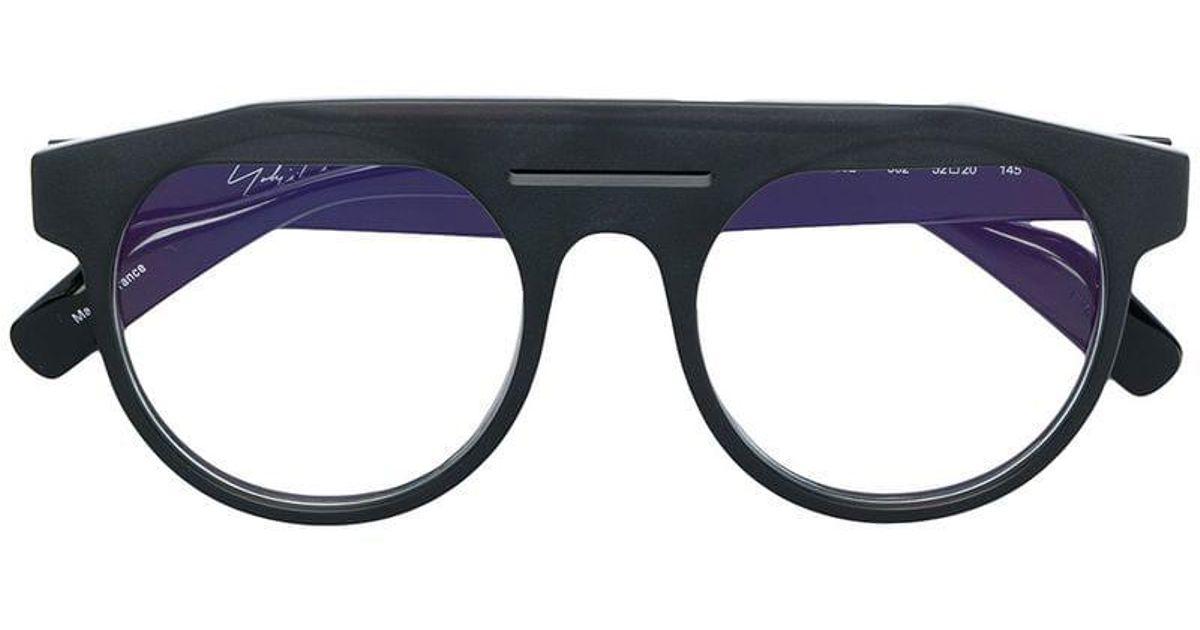 8e8e0768c7f Lyst - Yohji Yamamoto Thick Rimmed Glasses in Black