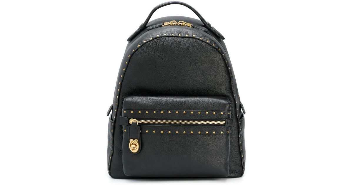 d9610b30f COACH Studded Backpack in Black - Lyst