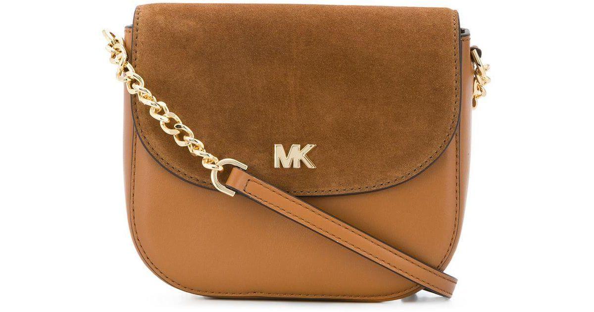 7e1906b6156e Michael Kors Mk Crossbody Bag in Brown - Lyst