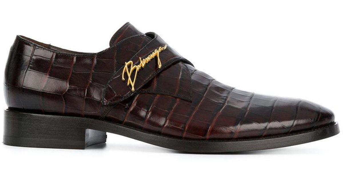 Lyst Pour Logo Chaussures En Balenciaga Et Homme À Boucle Plaque 8kZ0wONnPX