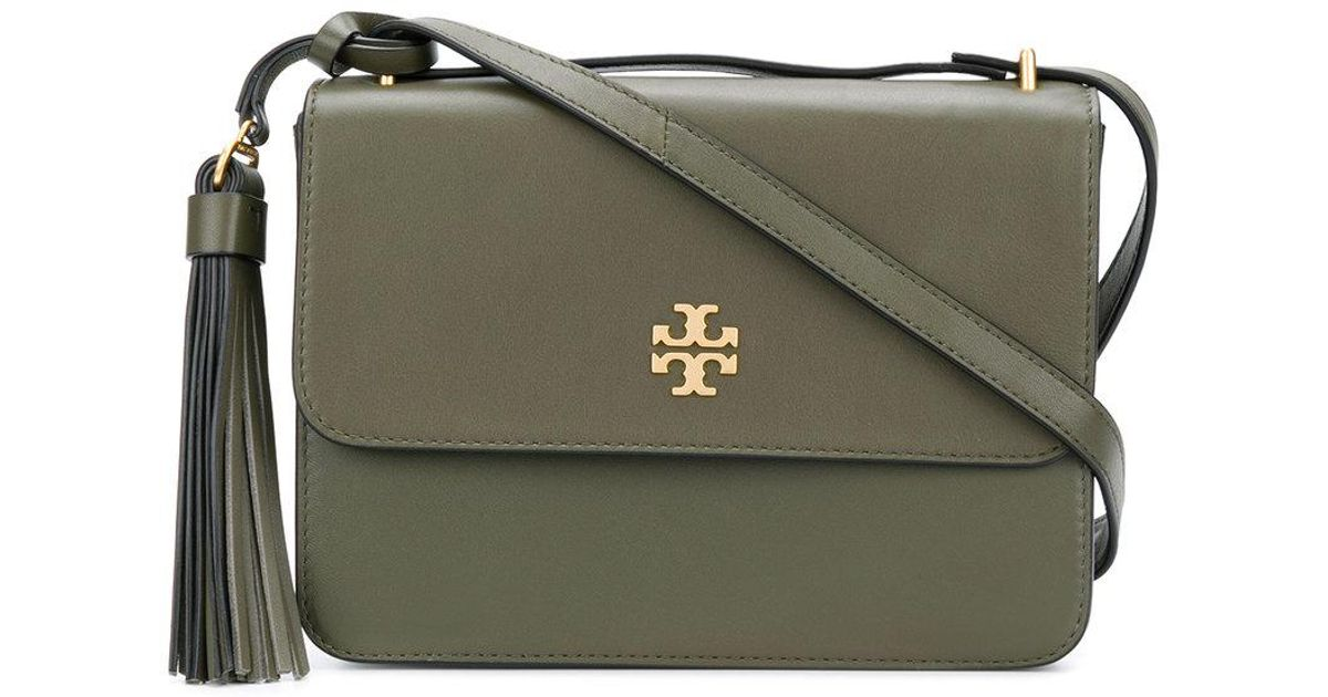 8482fc7e4b2b Tory Burch Brooke Shoulder Bag in Green - Lyst