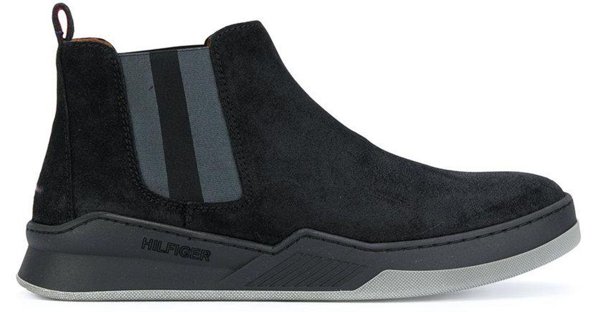tommy hilfiger chelsea boots in black for men lyst. Black Bedroom Furniture Sets. Home Design Ideas