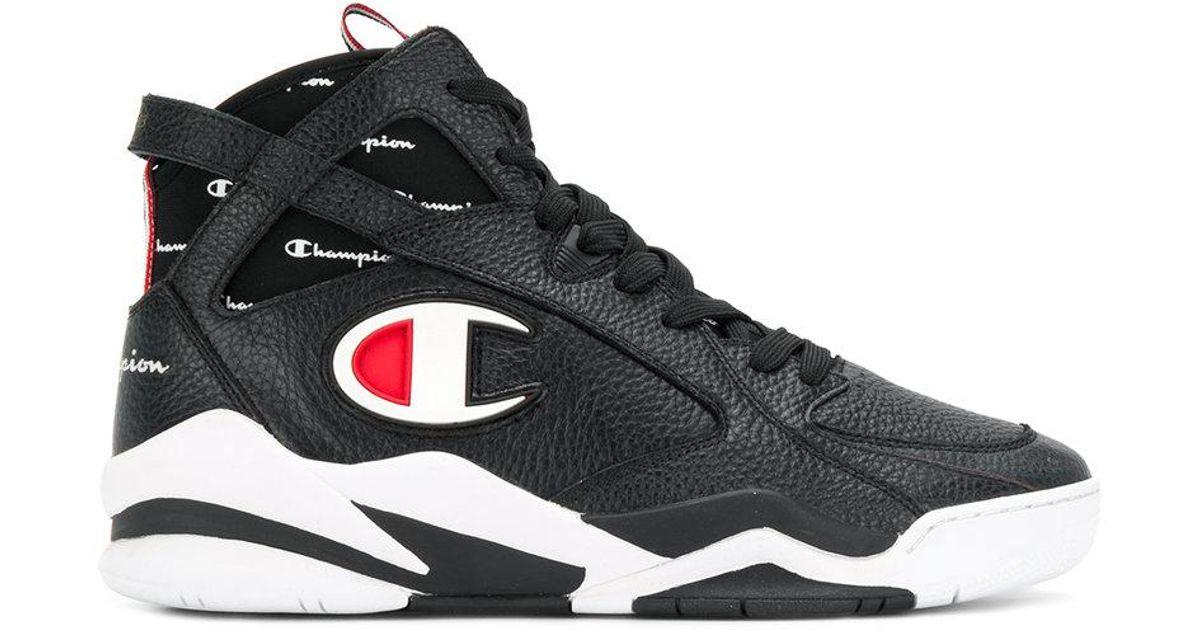 1744eabbf510 Lyst - Champion Zone 93 Hi-top Sneakers in Black for Men