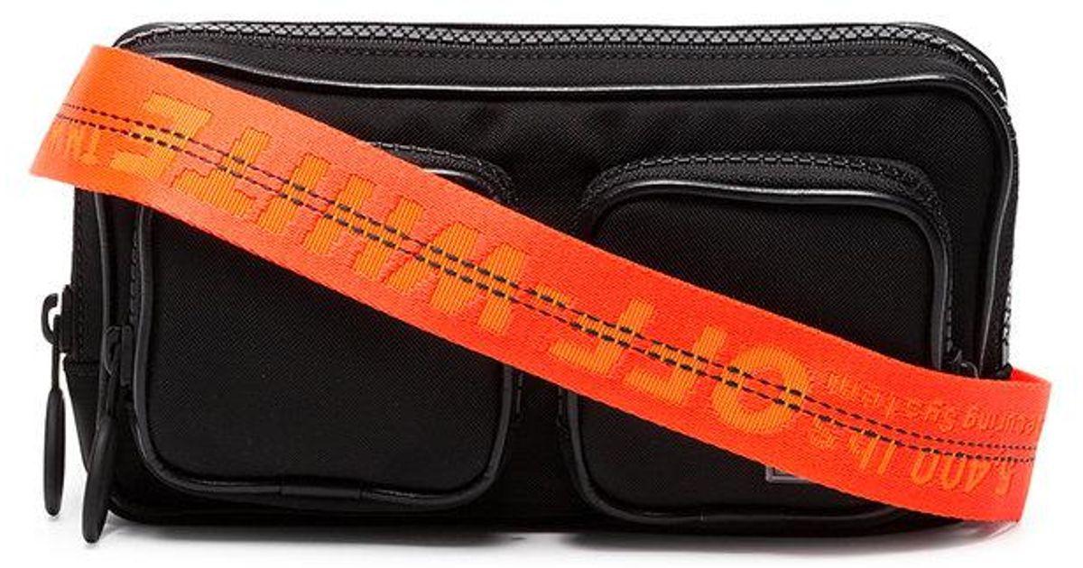 d13113b13 Off-White c/o Virgil Abloh Logo Tape Hip Belt Bag in Black for Men - Lyst